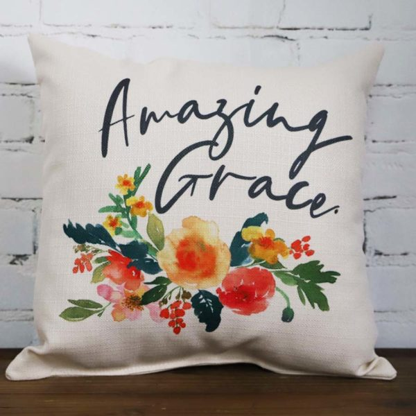 Amazing Grace Camille throw pillow Little Birdie