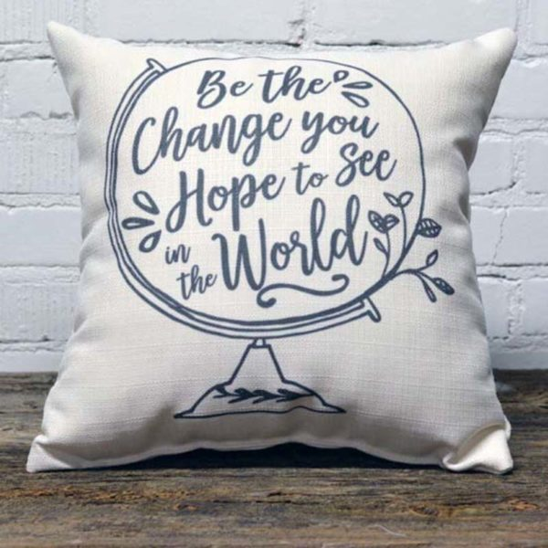 be the change little birdie throw pillow