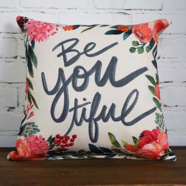 Be You Tiful Little Birdie throw pillow