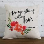 do everything with love little birdie throw pillow