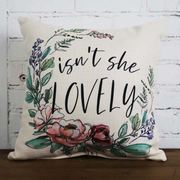 isn't she lovely throw pillow little birdie