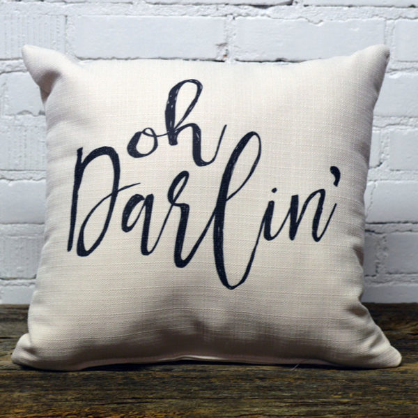 Oh Darlin little birdie throw pillow