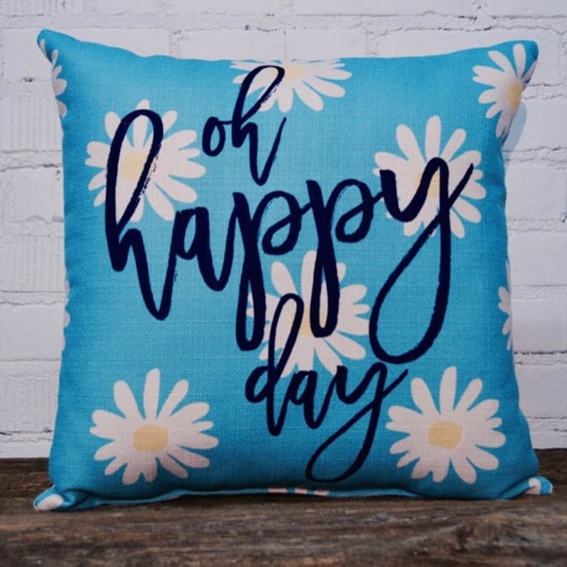 oh happy day little birdie throw pillow
