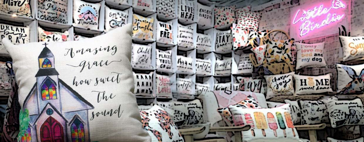 little birdie pillow showroom
