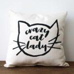 crazy cat lady little birdie pillow