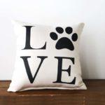 love paw print little birdie pillow