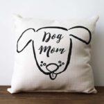dog mom little birdie pillow