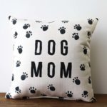 dog mom paws pillow little birdie