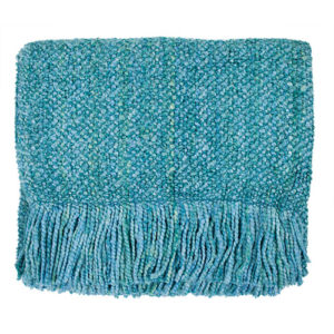 aqua campbell woven throw
