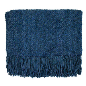 bristol blue campbell woven throw